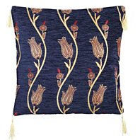 Turkish Rug Kilim Cushion Tulips in Marine Pillow cover