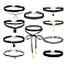 10PCS Womens Black Velvet Choker Necklace for Girls Lace Choker Tattoo Necklace