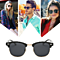 Lightweight Retro Semi Rim Mirror Lenses Polarized Sunglasses