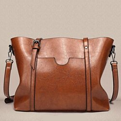 Retro Leather Purse Handbag Shoulder Bag Women's Tote Bag Gift