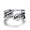 Vintage Feather Stainless Steel Rings for Men Women