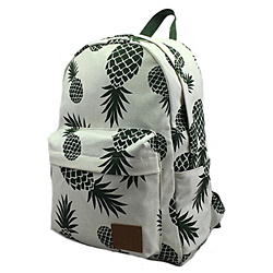 Women's Canvas Lightweight Pineapple Backpack Travel Bag School Bag Daypack