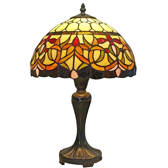 Buy tiffany style floral table lamp 12 inch wide by uber for 12 inch table lamp