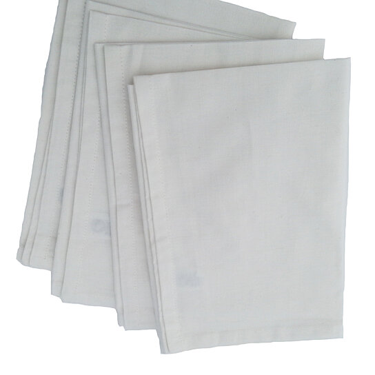 Buy natural cotton table napkin hand woven set of 4 by - Serviette table coton ...