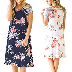 Floral Short Sleeve Dress in 4 Sizes