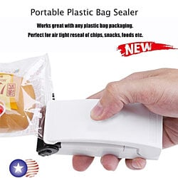 Portable Household Mini Heat Sealing Machine Sealer Plastic Bag Food Storage