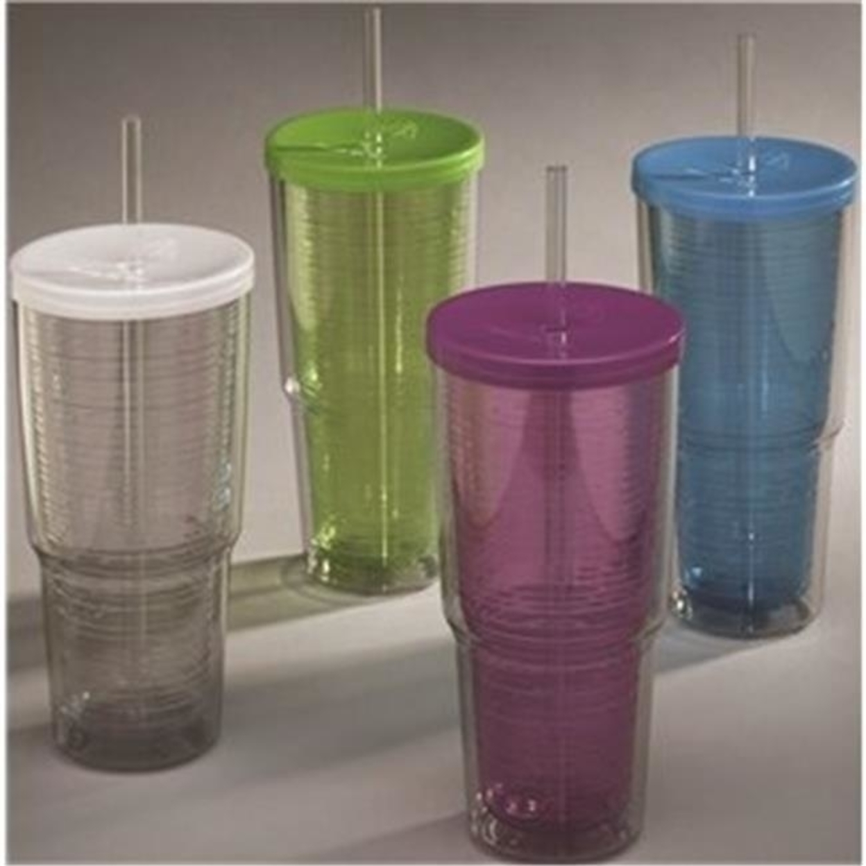 Arrow Plastics Mfg. 00015 24 oz. Tumbler Double Wall Pack Of 8 596e4c982a00e46c21426ace