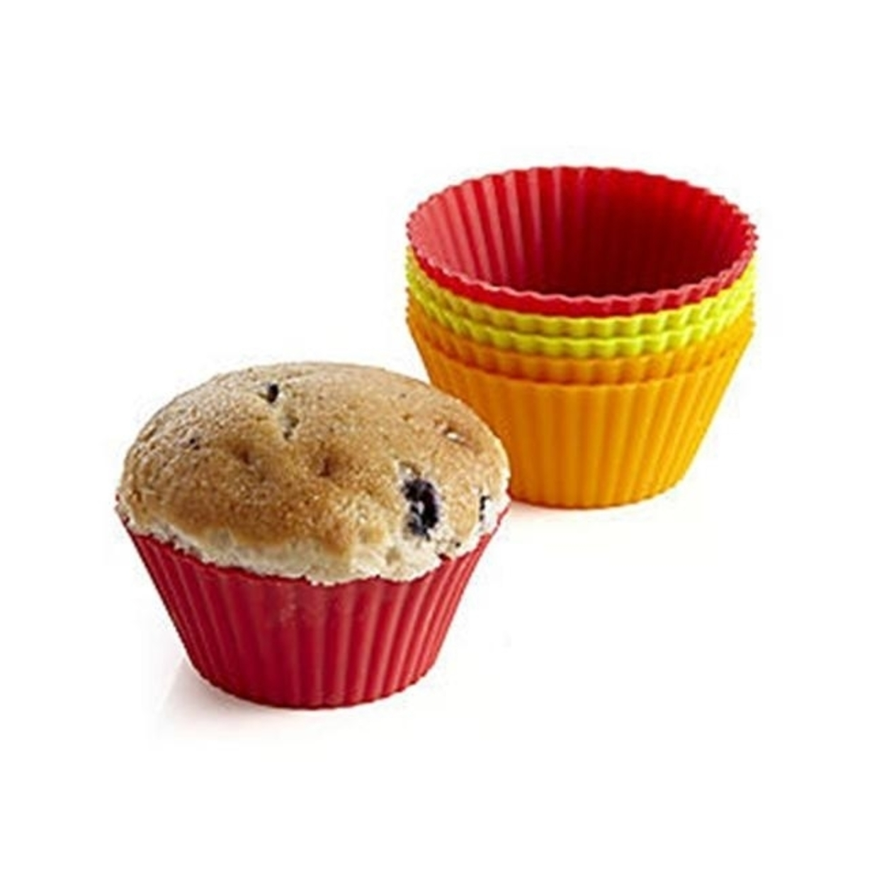 Bethany Housewares 170 Silicone Muffin Liners - Set of 6 5a3beecee224615ab87bc35f