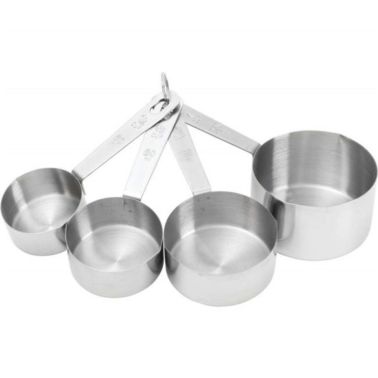 Bnfusa Ktcups4 Stainless Steel Measuring Cup Set With Etched Markings 4 Piece 5a3d6ed4e2246116fd7cab8f