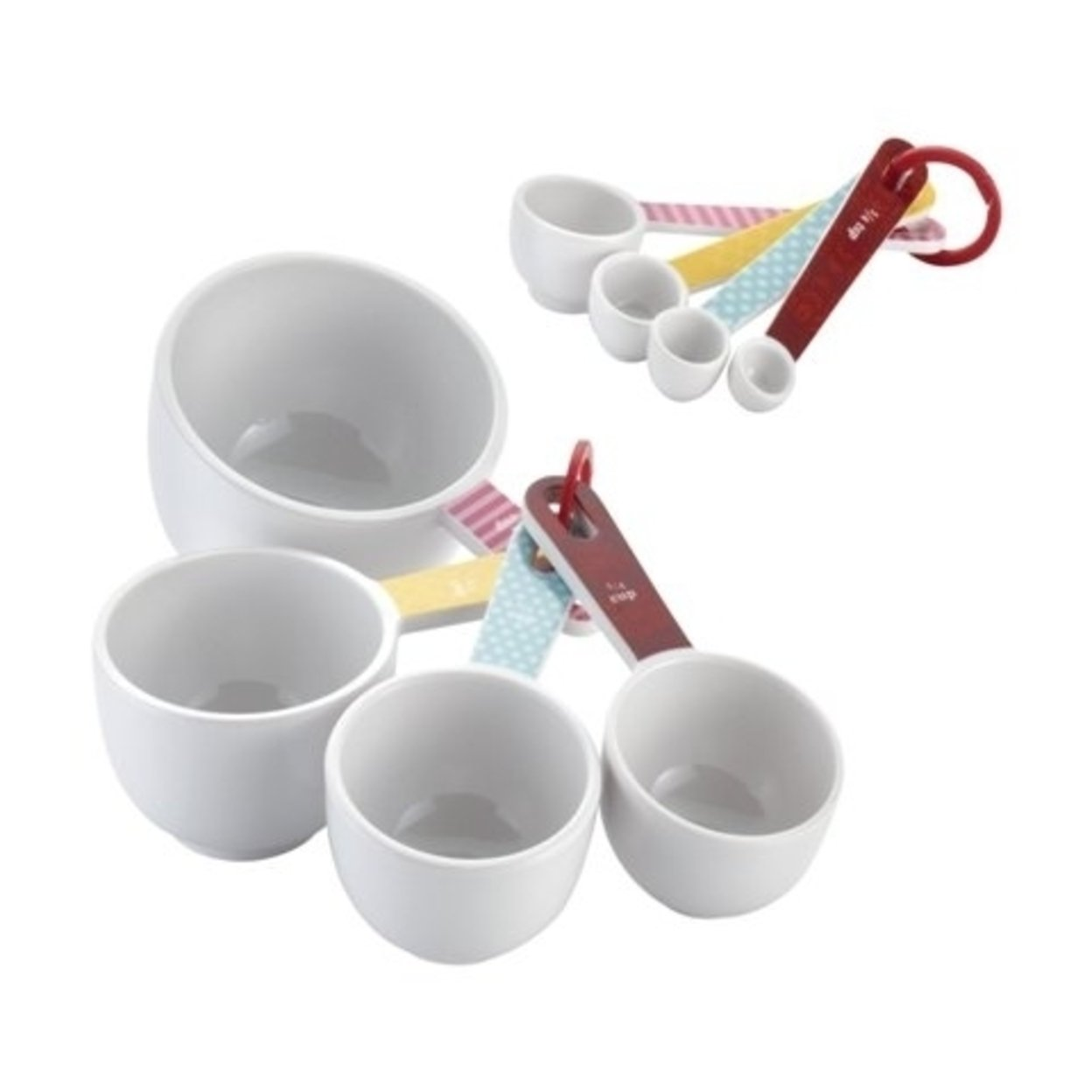Cake Boss 55467 Countertop Accessories 8-Piece Melamine Measuring Cups And Spoons Set, Basic Pattern 596e27332a00e4592020305c