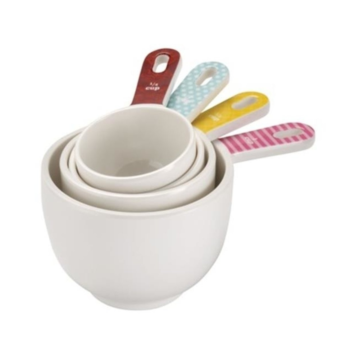 Cake Boss 59587 Countertop Accessories 4-Piece Melamine Measuring Cup Set, Basic Pattern 5a3c4e7c2a00e457775ee013