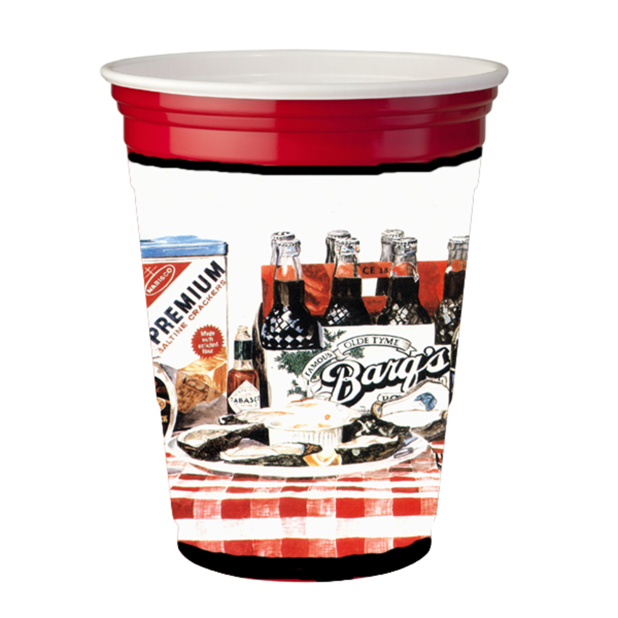 Carolines Treasures 1004Rsc Barqs oysters Red Solo Cup Hugger 5a3c77ebe224611f232cf146