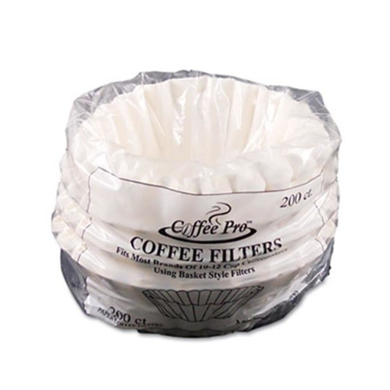 Coffee Pro Cpf200 Basket Filters for Drip Coffeemakers 10 to 12 Cups White 200 Filters-Pack 596d026a2a00e47c775d4cf9