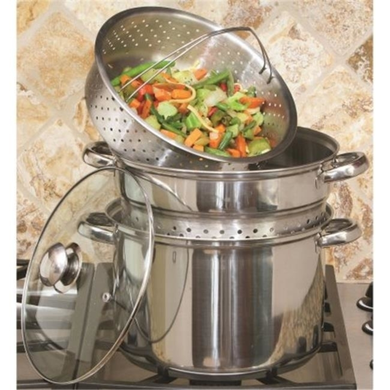 Cookpro 512 8 qt. Stainless Steel Multi Cooker Silver - 4 Piece 5a3d8a3ae2246127df28cc01