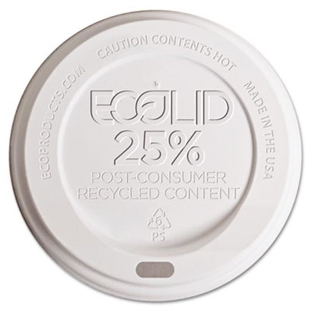 Eco-Products Ep-Hl16-Wr Eco-Lid 25 Percent Recycled Content Hot Cup Lid Fits 10-20 oz Cups 1000-Carton 59f0ab74e224615ade155672