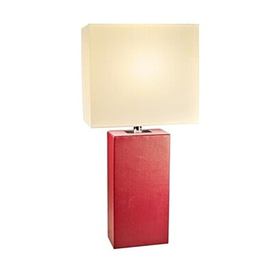 Elegant Designs LT1025-RED Modern Leather Table Lamp - Red