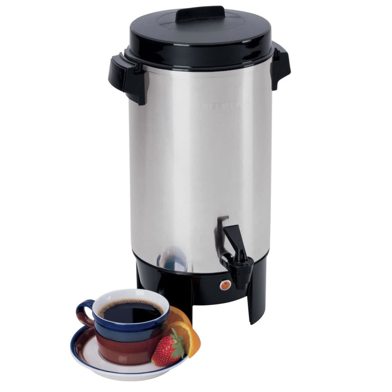 Focus Foodservice 58002 42 Cup residential aluminum coffee urn 596d358d2a00e4022b2750b8