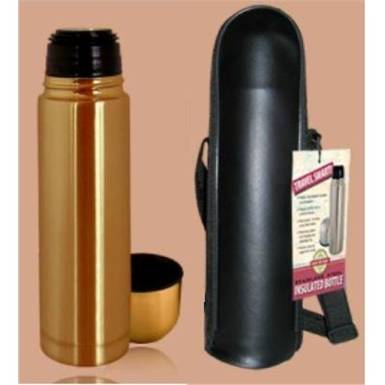 Good Life Gear Sf1005 BRZ 16 oz. Thermal Hot-Cold Bottle With Black Carrying Case - Bronze 59f0e6ea2a00e41fea7f6c08