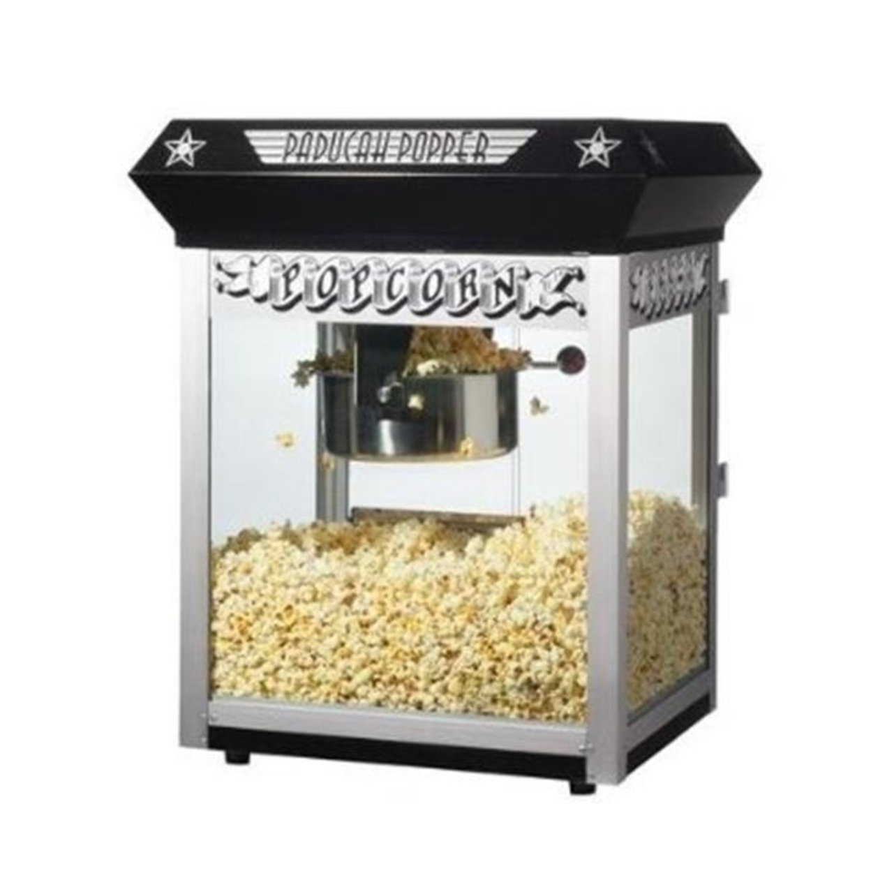 Great Northern 6050 Black Paducah Eight Ounce Bar Style Antique Popcorn Machine 596d274c2a00e45bcf42f1b0
