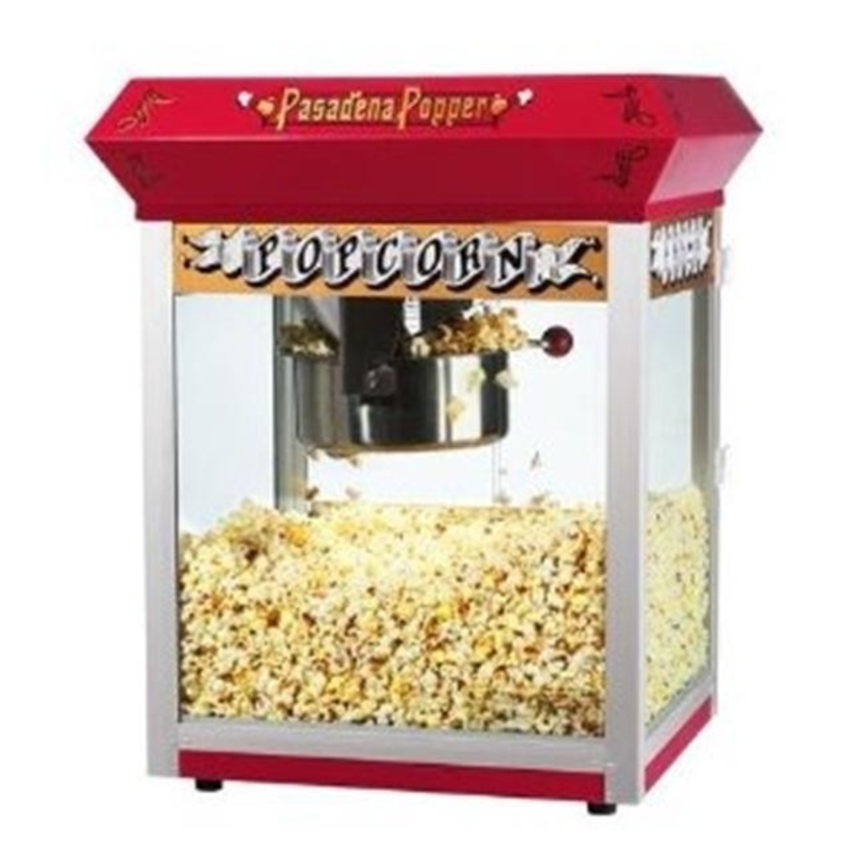 Great Northern 6055 Red Pasadena Eight Ounce Bar Style Antique Popcorn Machine 596d274c2a00e45bc7553aca