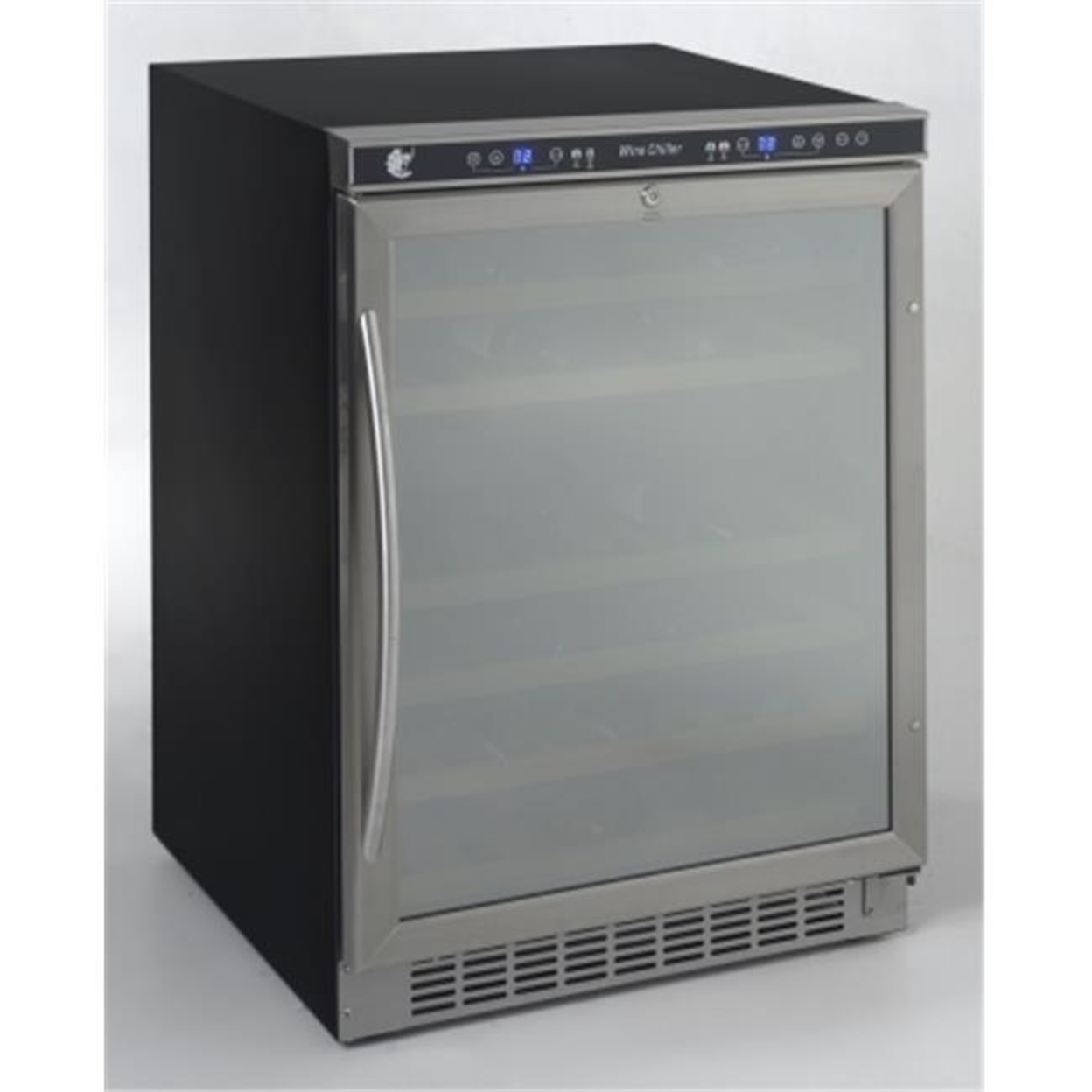 MAS Wcr5404Dzd 46 bottle dual zone built-in or free-standing wine cooler stainless steel frame with mirror finish door