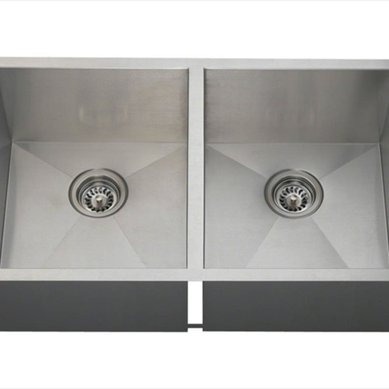 MR Direct 3322D Double Equal Bowl Rectangular Stainless Steel Kitchen Sink 5a3d41102a00e45b087458e7