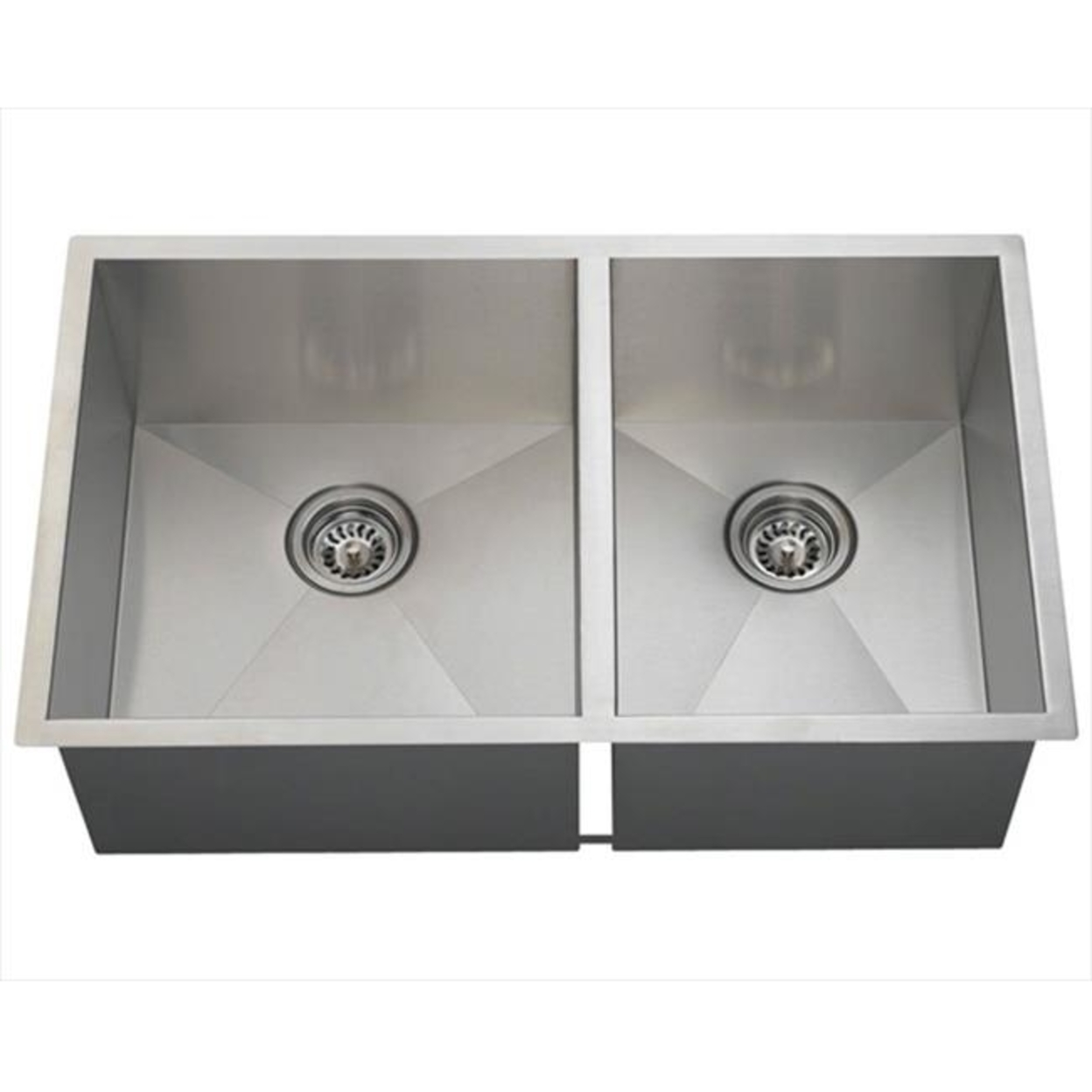 MR Direct 3322Ol 90 Degree Double Bowl Rectangular Stainless Steel Sink 5a3d410e2a00e45b087458af
