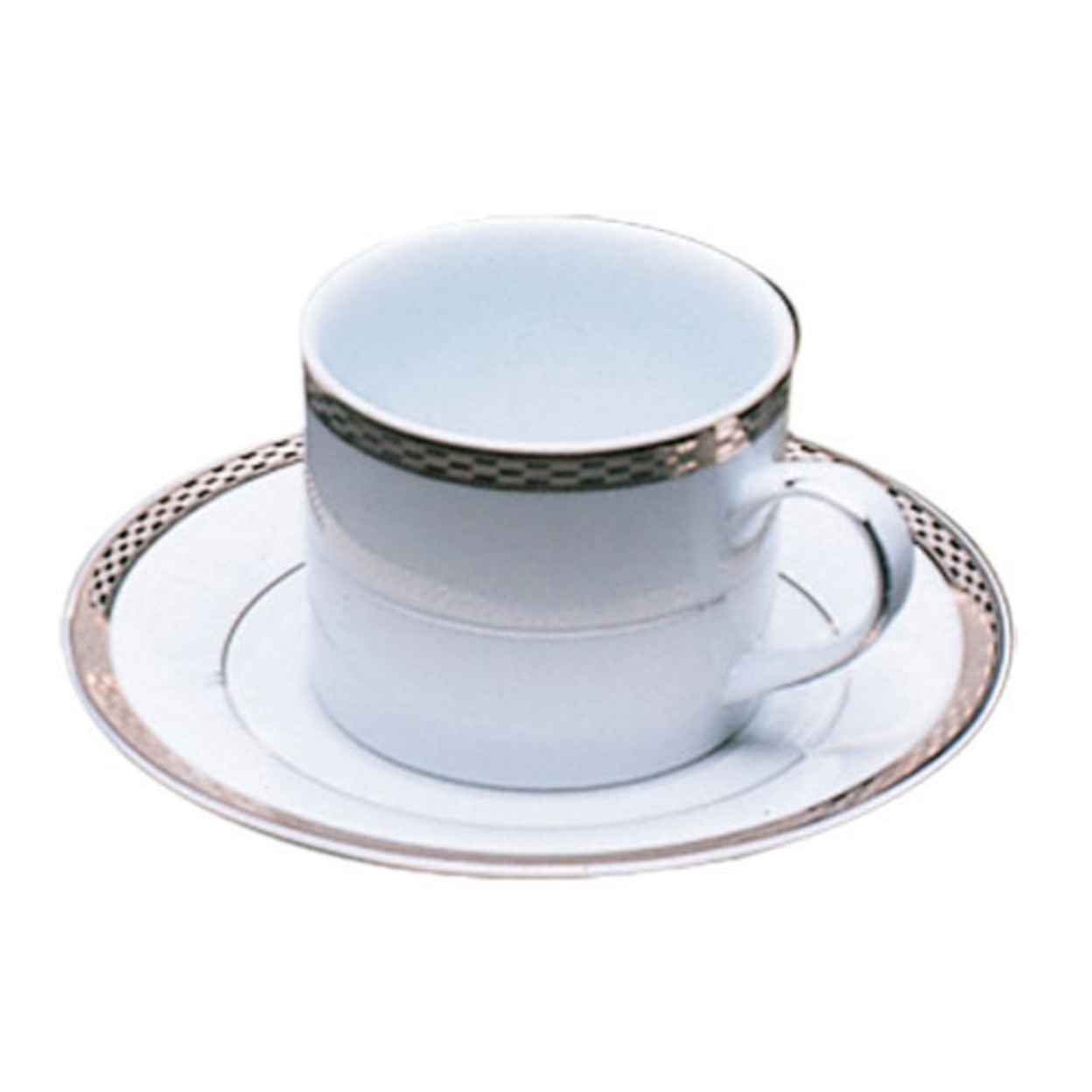 Ten Strawberry Street Athens Platinum Cup-Saucer- Set of 6 59f22961e224614988714e1c