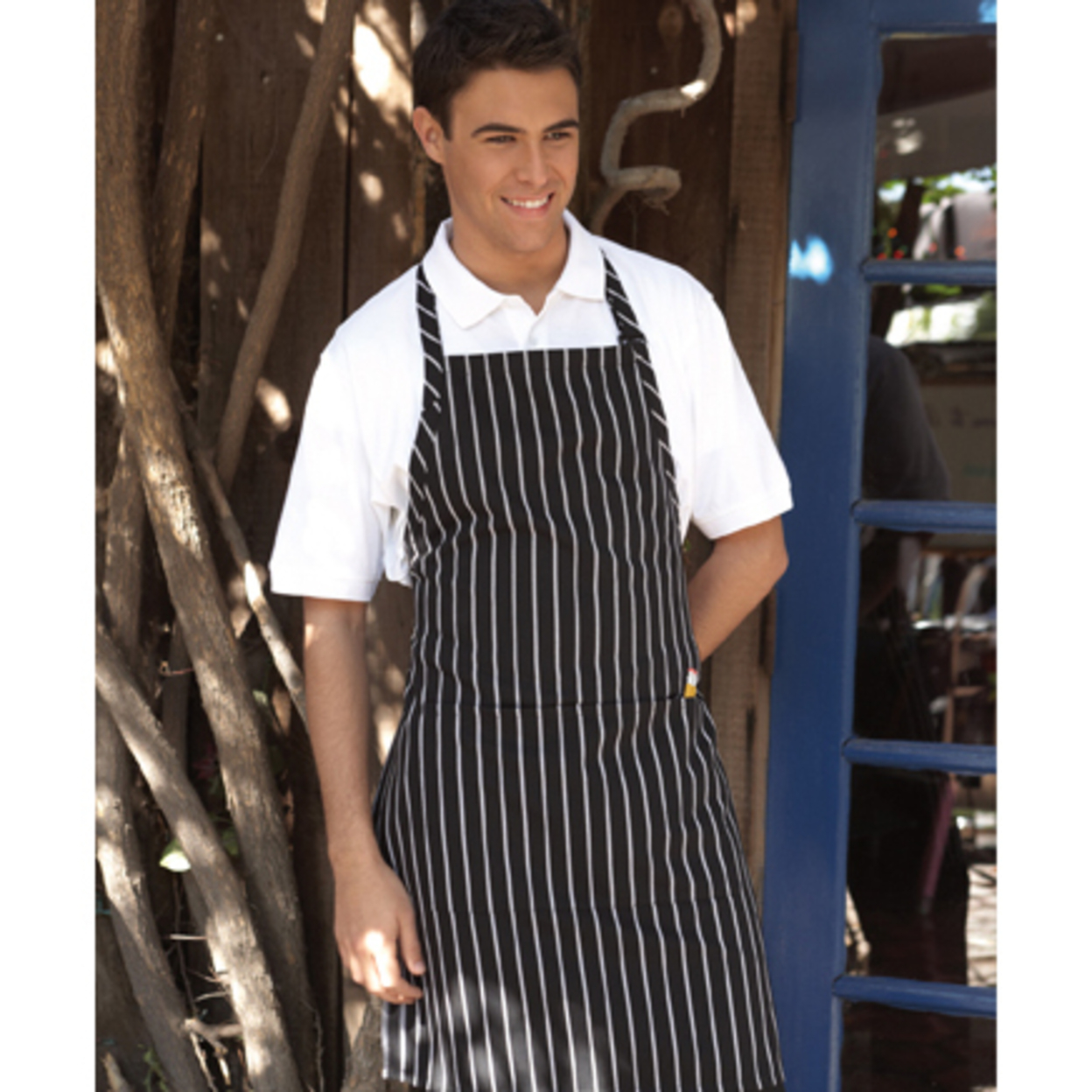 Uncommon Threads 3018-1600 Ajustable Butcher Apron 2 Section Pocket in Navy 5a3c2c012a00e44b69450636