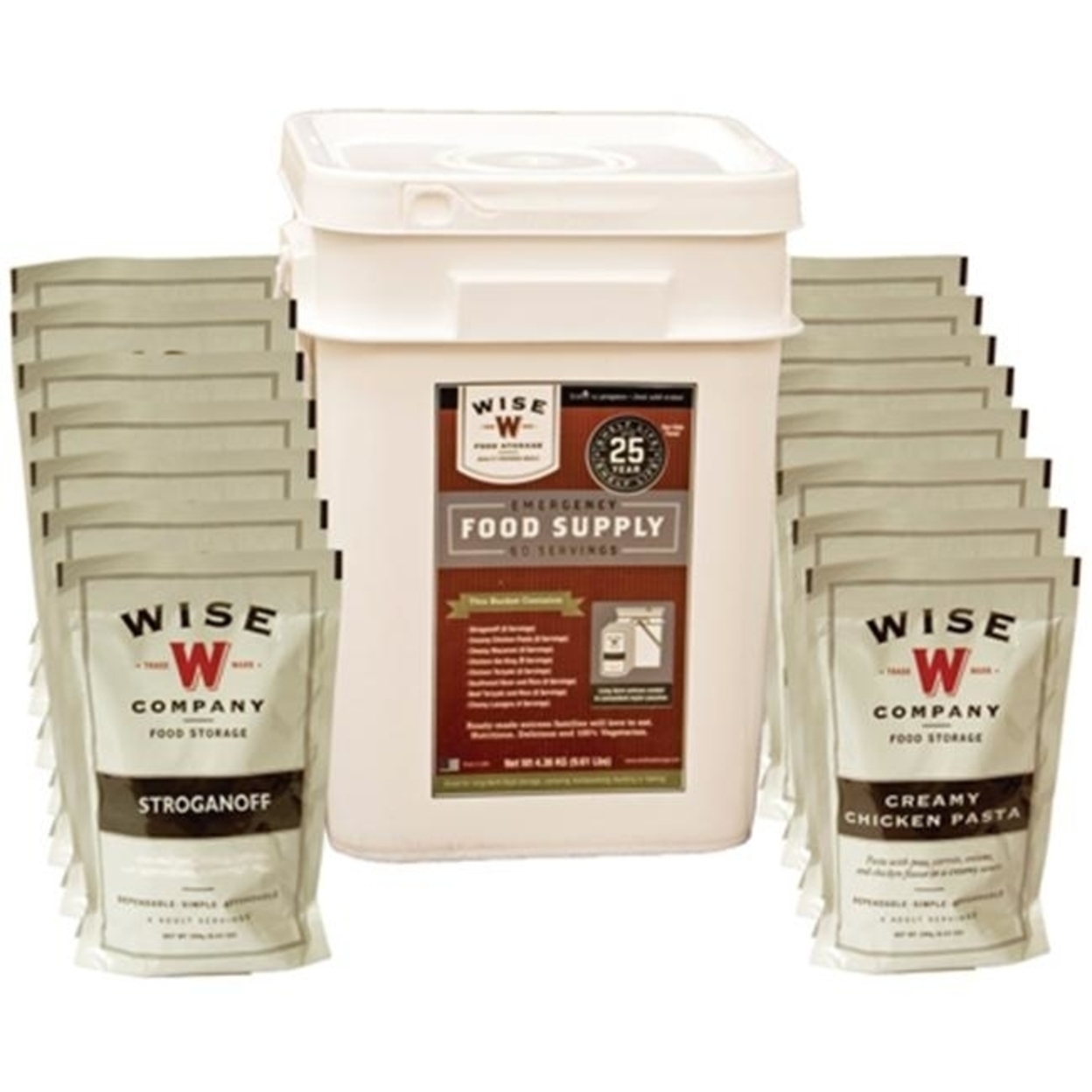 Wise Foods 695020 60 Servings Wise Emergency Food Kit 596e24dc2a00e4592c482c44