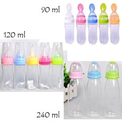 1pc Soft Silicone Spoon Baby Rice Cereal Eat-bottle Weaning Food Supplement