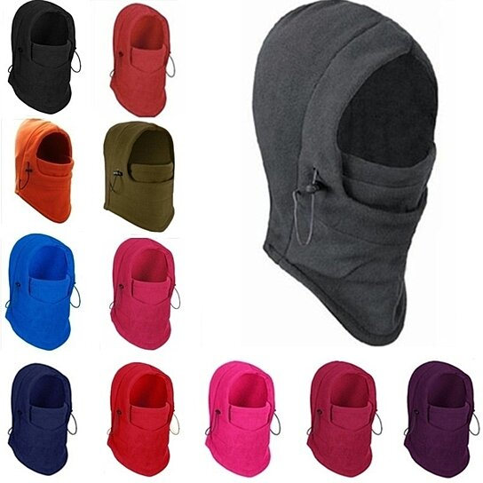 4f4e7aa7979 Buy Fashion Couple Unisex 6 In 1 Thermal Fleece Balaclava Outdoor Ski Masks  Bike Cyling Beanies Wind Stopper Face Hats by Uncle Thank s Store on OpenSky