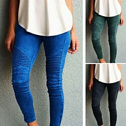 Skinny Moto Jeggings in Multiple Colors, XS-5X