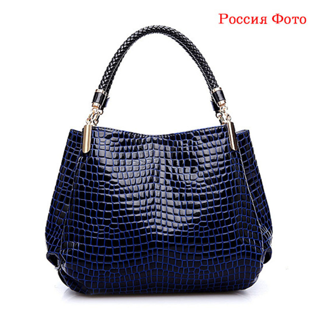 Women bag ladies Pattern Handbag Shoulder Bag - Black