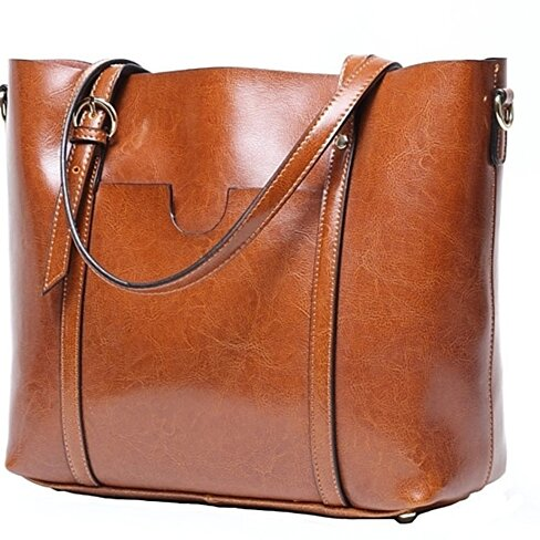 Women's Tote Bag, Vintage Genuine Leather Purse Handbag Shoulder Bag