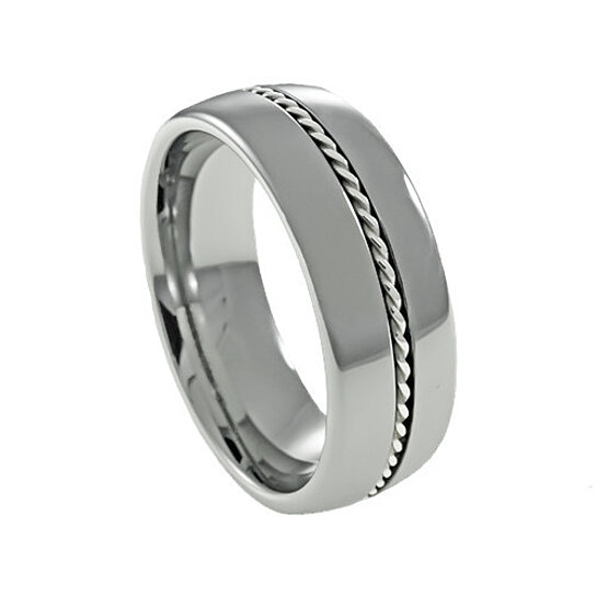 buy silver braid dome s tungsten promise ring by