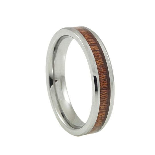 Buy Womens Cool Tungsten Wedding Ring Koa Wood Inlay By Anniversary Amp Wedding Rings On OpenSky