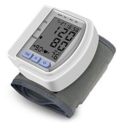 Digital Wrist Blood Pressure Monitor Cuff Electric BP Check Machine Portable Clinical Automatic With Case