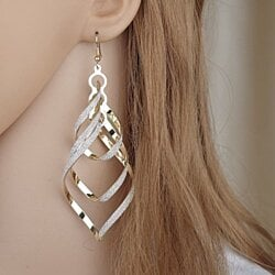 New Brand Design Fashion Elegant Classic Punk Gold Color Spiral Pendant Drop Earrings Jewelry For Women