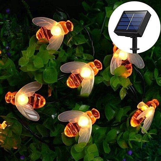 Buy 30 led honey bee shape solar powered fairy rope lights by unique buy 30 led honey bee shape solar powered fairy rope lights by unique fashion on opensky aloadofball Images
