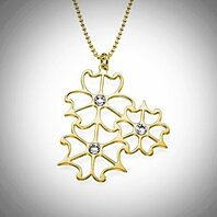 18K Gold Plated Sterling Silver Petalo Necklace