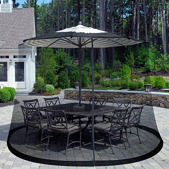 Buy 9 Foot Outdoor Patio Umbrella Table Screen Mosquito