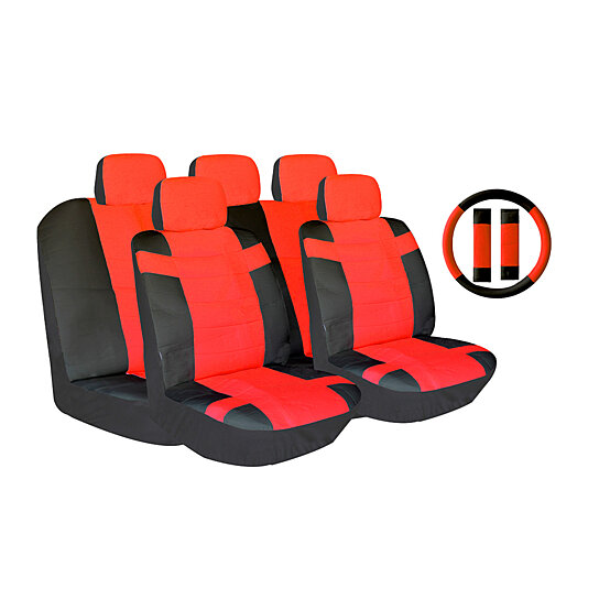 Buy Two Tone PU Leather Car Seat Covers Universal Fit By