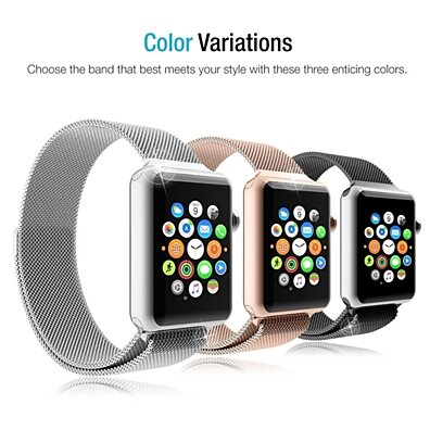 Apple Watch 42mm Milanese Loop Stainless Steel Mesh Bracelet