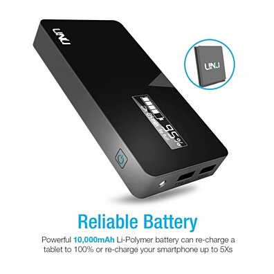 UNU Ultrapak Tour 10000mAH Portable Charger (Black)