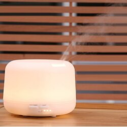 Essential Oil Diffuser- 300ml Premium Cool Mist Aroma Humidifier with changing colored led lights