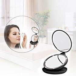 Lighted Travel Dual Makeup Mirror
