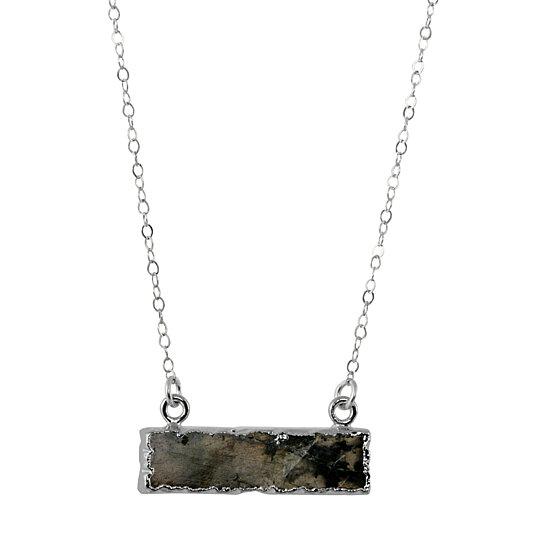 labradorite bar pendant