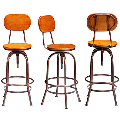 Industrial Stools - Set of 2