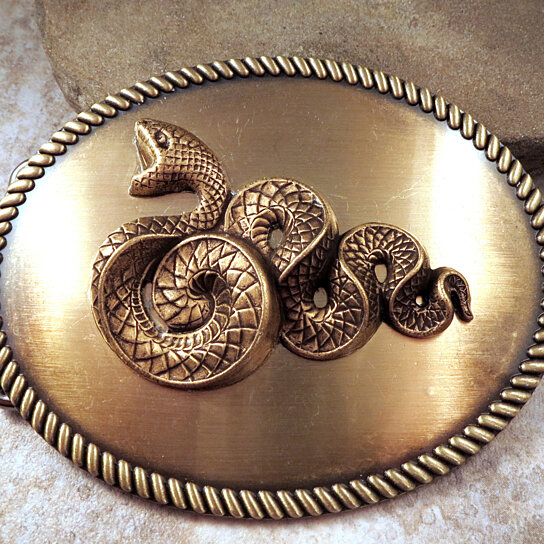 Buy Handmade Large Bronze Serpent Snake Belt Buckle By